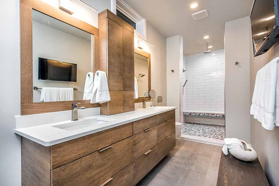 Modern bathroom, Travis Miller Homes in Nixa, MO